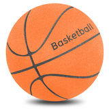 Basketball ball sport. By cork board on white isolate (clipping path Royalty Free Stock Image