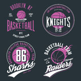 Basketball ball or sport game t-shirt design Royalty Free Stock Image