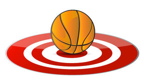 Basketball ball target concept Royalty Free Stock Photo