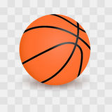 Basketball ball on transparent checkered background. Realistic vector Illustration. Basketball ball on transparent checkered background. Realistic vector stock illustration