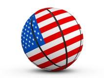 Basketball ball USA flag Royalty Free Stock Image