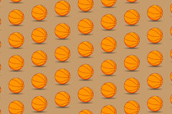 Basketball ball - vector pattern. Basketball ball on brown background - vector pattern vector illustration