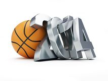 Basketball ball 2014 Stock Images