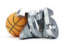 Basketball ball 2015. On a white background Royalty Free Stock Photos