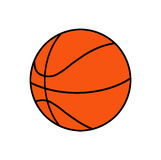 Basketball ball. On white background Stock Photography