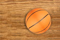 Basketball ball on wooden Royalty Free Stock Image
