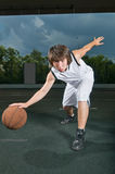 Basketball ballhandling skills Royalty Free Stock Photo