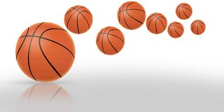 Basketball balls. Sports concept,3d&computer generated Royalty Free Stock Photo
