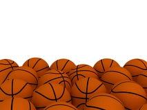 Basketball balls. 3d render of an orange basketball balls royalty free illustration