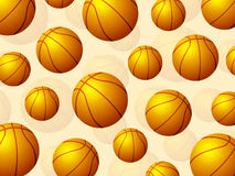 Basketball balls background Stock Photos