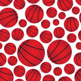Basketball balls seamless color sport pattern Royalty Free Stock Image