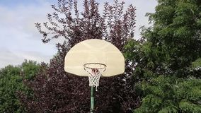 Basketball Bank Shot on an Outdoor Hoop 01 Royalty Free Stock Image