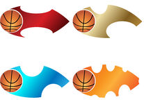 Basketball banner Royalty Free Stock Photo