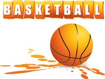Basketball banner Royalty Free Stock Image