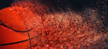 Free Basketball Banner Background Royalty Free Stock Images - 133405069