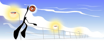 Basketball banner Stock Image