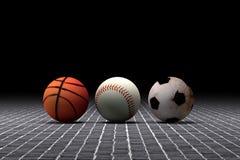 Basketball baseball and soccer balls Stock Image