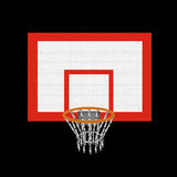 Basketball basket. The isolated image of a basketball basket and board Royalty Free Stock Images