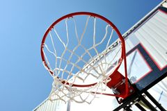 Outdoor basketball playground stock photos