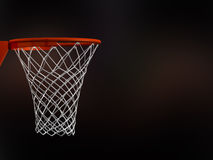 Basketball Basket in Arena. With white nets on black background vector illustration