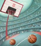 Basketball basket background royalty free illustration