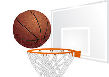 Basketball and basket Stock Images