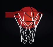 Basketball basket and ball. Vector illustration Stock Photos