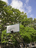 Basketball basket with blue sky Royalty Free Stock Photo