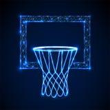 Basketball basket, hoop. Low poly style design stock illustration