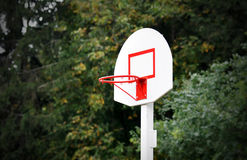 Basketball basket in park Stock Image