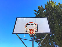Basketball basket on a playground Royalty Free Stock Images