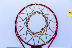 Basketball basket seen from below Royalty Free Stock Photo