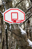 Basketball basket in snow Stock Images