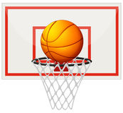 Basketball with basketball board and net. Illustration Royalty Free Stock Photos