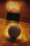 Basketball and Basketball Court Stock Image