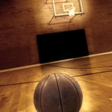 Basketball and Basketball Court Detail royalty free stock images