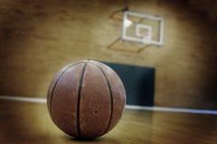Basketball and Basketball Court Stock Image