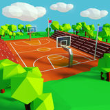 Basketball and basketball court Royalty Free Stock Image