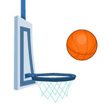 Basketball and basketball hoop Stock Photography
