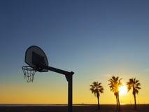 Basketball on the beach Royalty Free Stock Photos