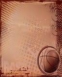 Basketball-Beschaffenheits-Hintergrund für Schablonen Lizenzfreies Stockfoto