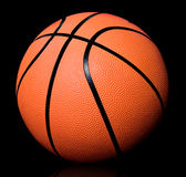 Basketball on black Stock Photography