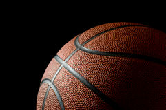 Basketball on black Stock Image