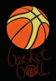 Basketball black.eps Stock Photography