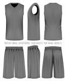 Basketball black uniform Royalty Free Stock Image