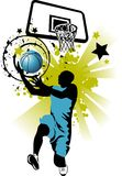 Basketball in blue Stock Image