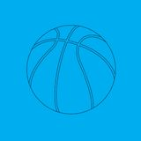 Basketball blueprint. Blueprint drawing of a basketball Royalty Free Stock Photo