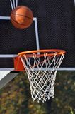 Basketball board and basketball ball Royalty Free Stock Image