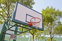 Basketball board on the blue sky Royalty Free Stock Images