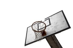 Basketball board isolated on white background Royalty Free Stock Photography